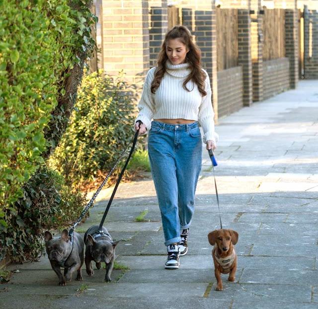 Chloe Goodman – Walking her 3 dogs in Hove