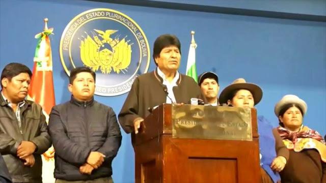 Tras su renuncia, Evo Morales asegura que no piensa dejar Bolivia