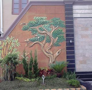 relief 3D dengan taman