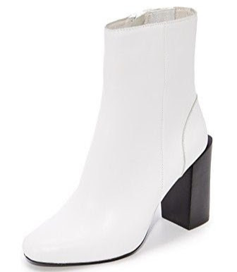 White Jeffrey Campbell Strattford block-heel ankle boots