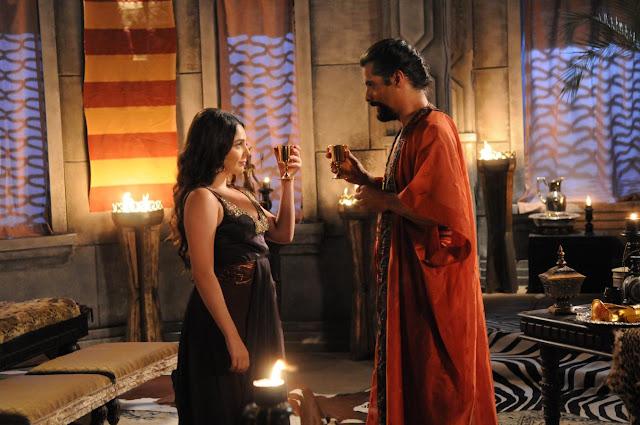 Betania (Marcela Barozzo) figurino vestido em Os dez mandamentos segunda temporada cena