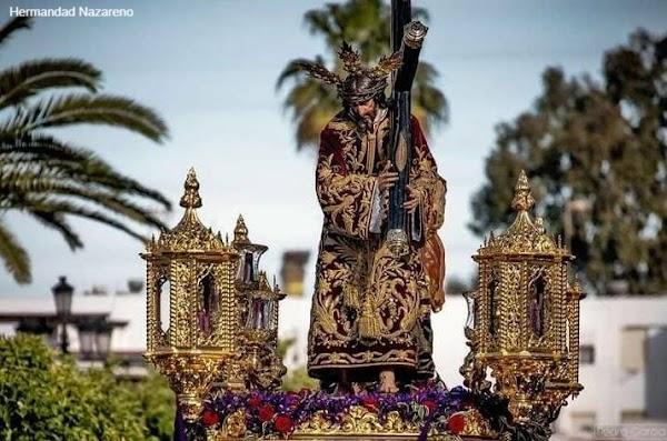 Firmada la conclusión del dorado del paso del Nazareno de La Palma