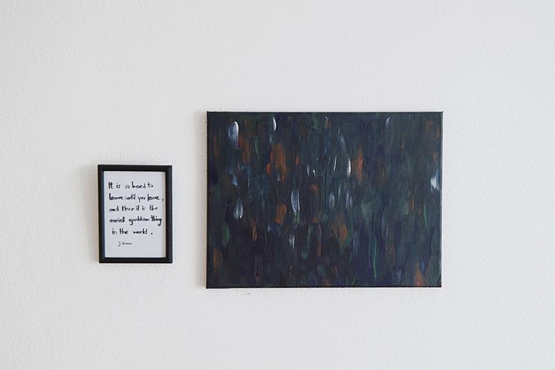 DIY Last Minute Geschenkidee: Zitat von John Green im Rahmen als Wanddeko