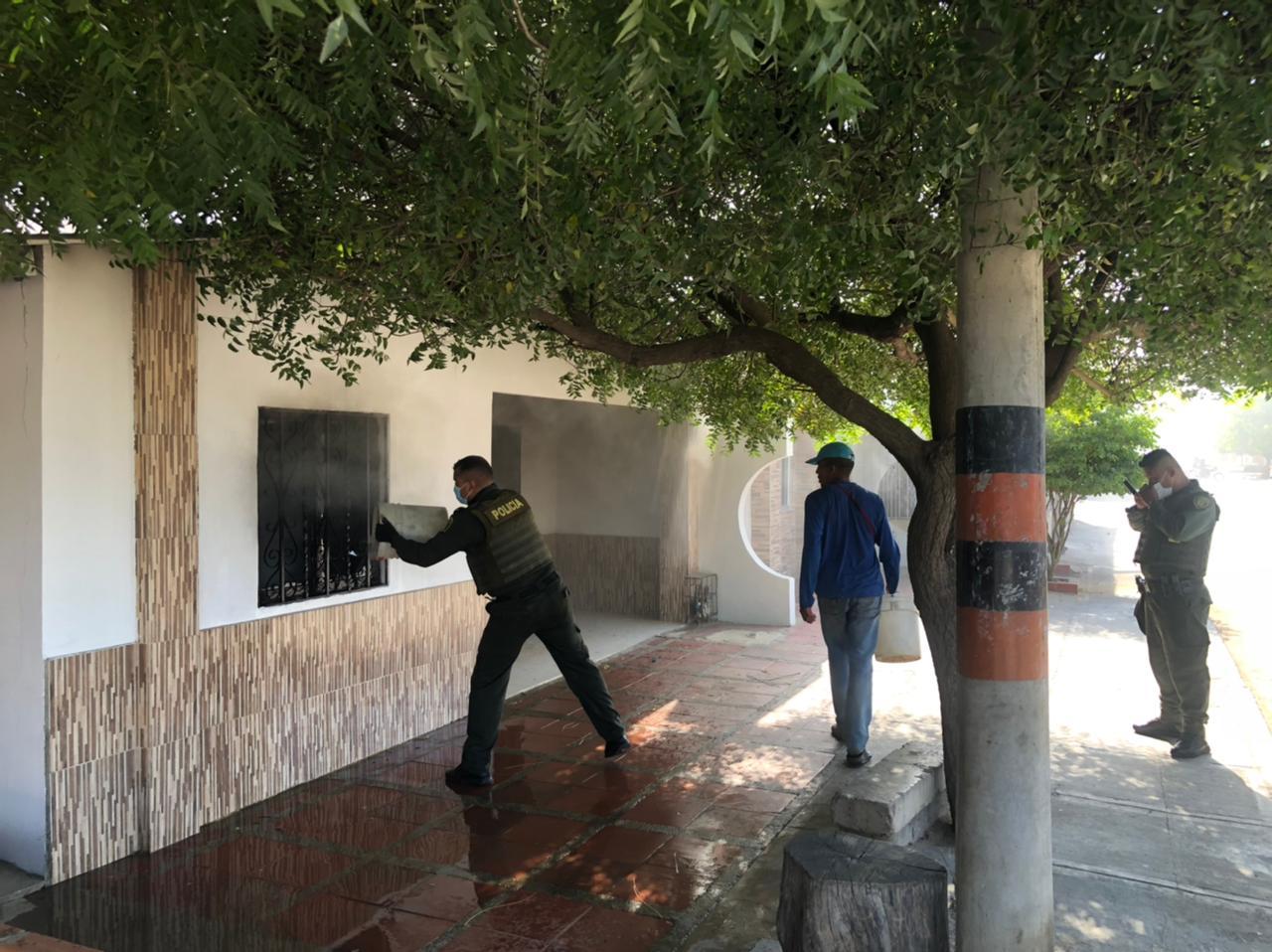 hoyennoticia.com, Policía evitó incendio en Maicao