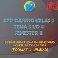 RPP Daring Kelas 2 Tema 5, 6, 7, 8 Semester 2