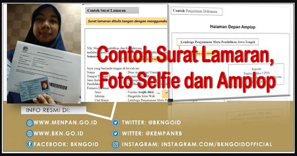 Contoh Surat Lamaran Cpns Foto Selfie Dan Penulisan Amplop Cpns