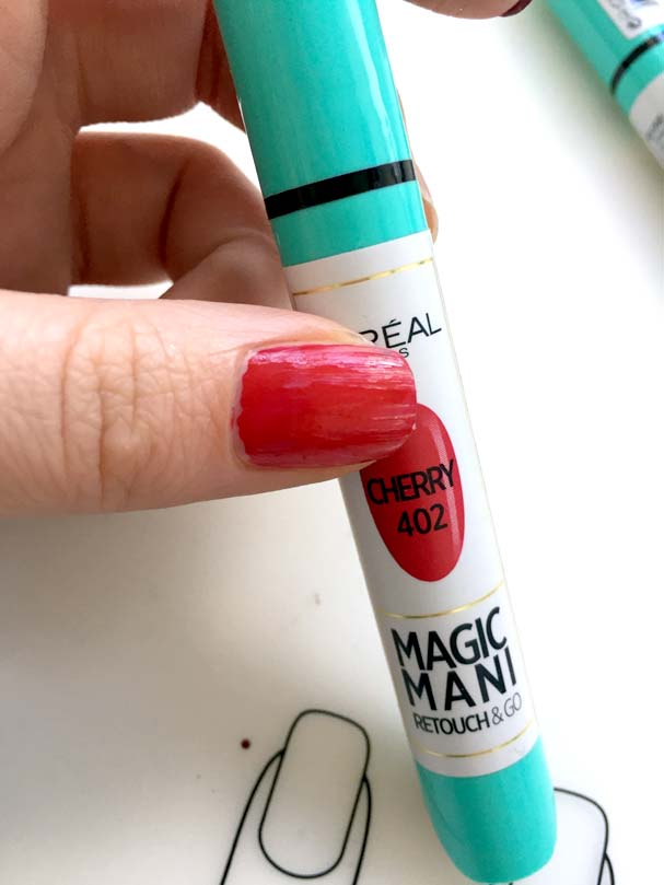 L'Oreal Magic Mani Retouch and Go - Cherry | The Beauty is a Beast