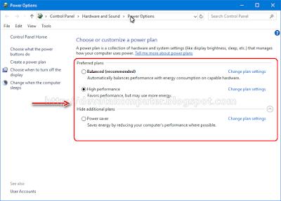 Cara Mengembalikan Power Plan Yang Hilang di Windows 10