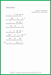 chord lagu sabda alam theresa zen ismail marzuki