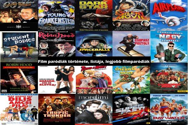Film paródiák története, listája, legjobb filmparódiák