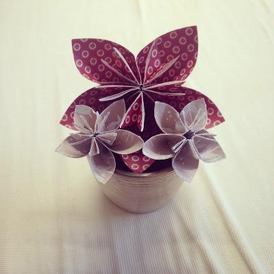 Origami - Kusudama flowers