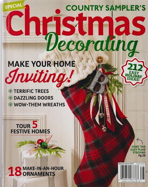 Country Sampler Christmas Decorating Magazine
