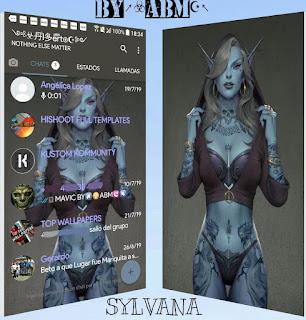 Sylvana Sexy Girls Theme For YOWhatsApp & Fouad WhatsApp By ALBERTO