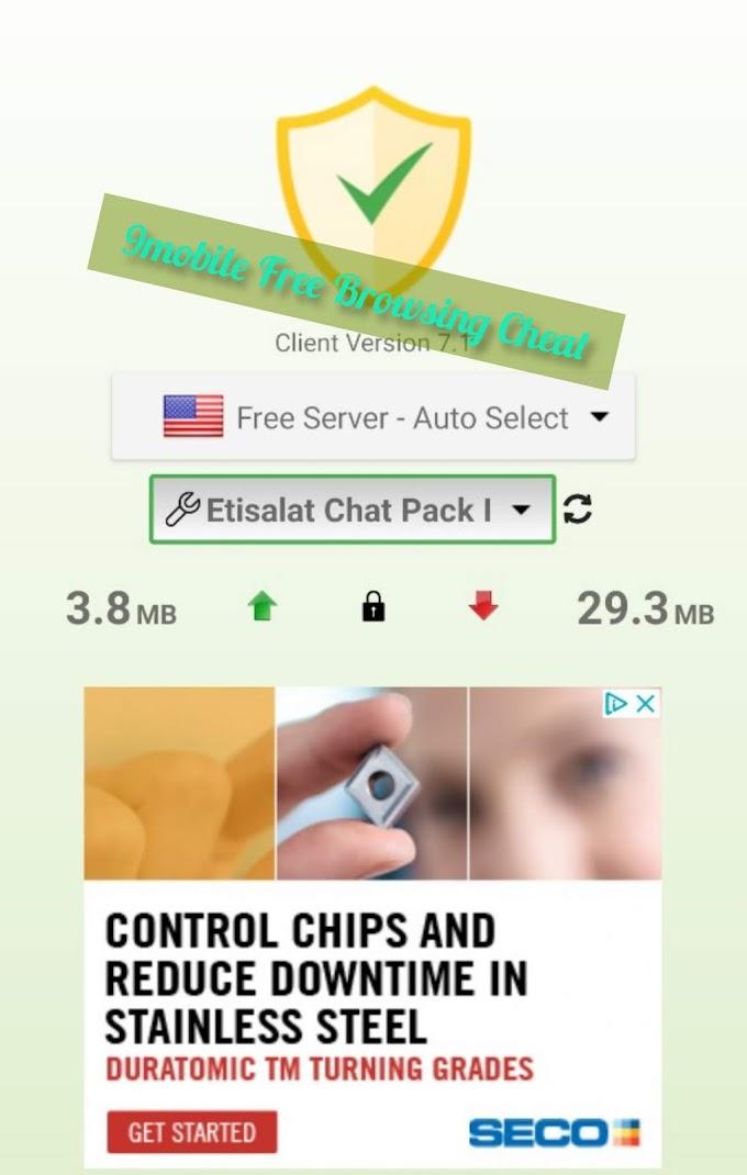 9mobile 2.5GB Free Browsing Cheat Via Tweakware VPN | 2020