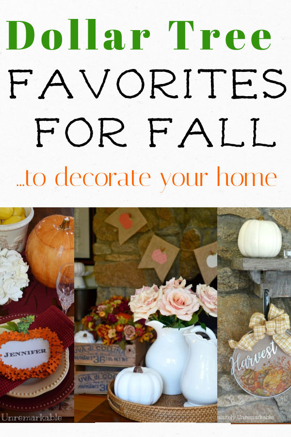 Home Decor Dollar Tree Favorites For Fall