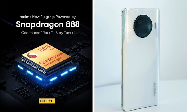 """REALME """"RACE"""" COMING UP WITH POWERFUL AND FAST SPEED QUALCOMM SNAPDRAGON 888 FLAGSHIP MOBILE PLATFORM"""