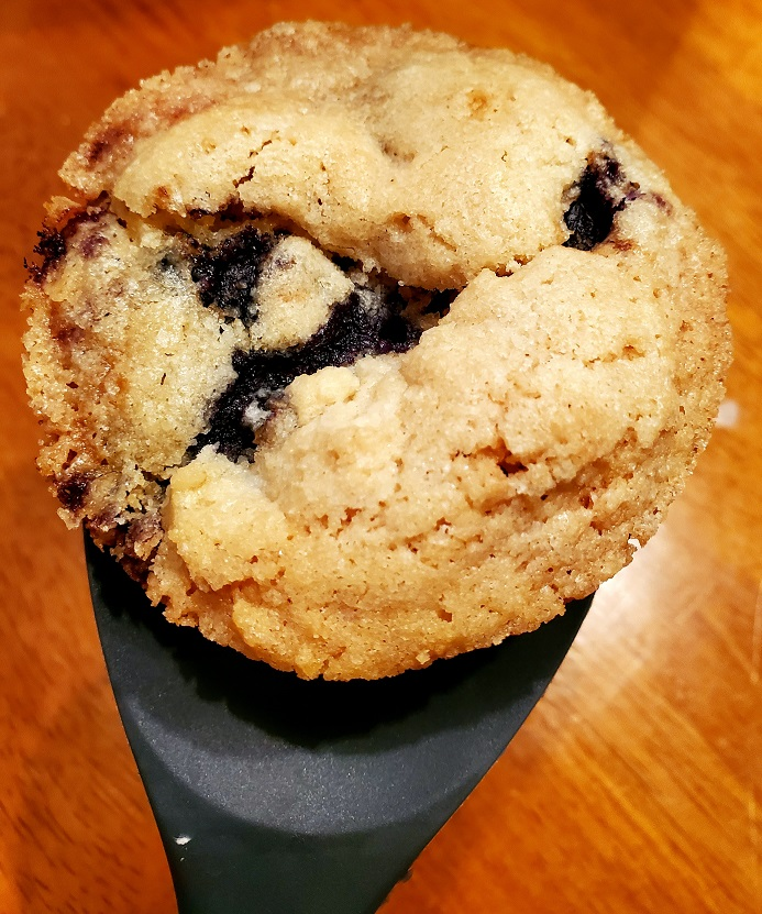 these are homemade blueberry muffins