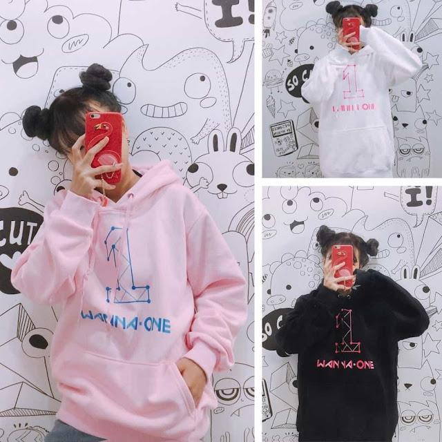 áo hoodie wanna one
