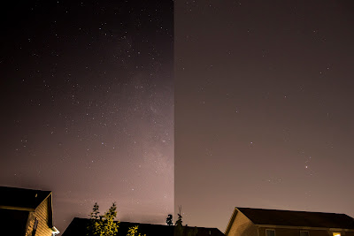 backyard milky way before and after
