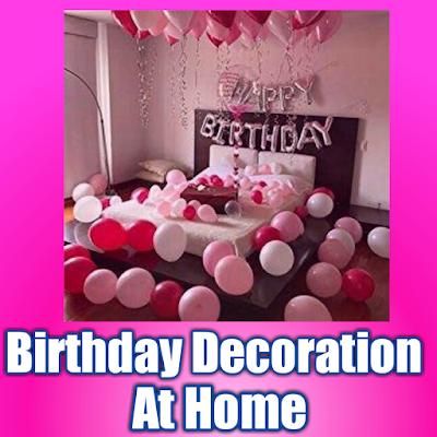 Free Birthday Decoration Ideas at home