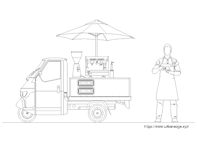 Mobile Barista free cad block download - Dwg Drawing Model