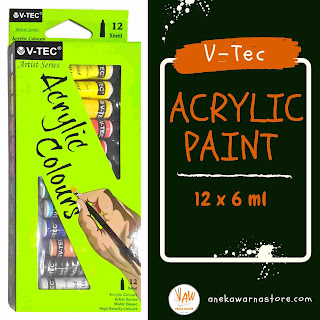 vtec acrylic set 12 x 6 ml