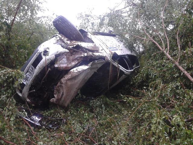 Jones Braga superintendente da Codevasf sofre acidente na BR 222, só houve danos materiais