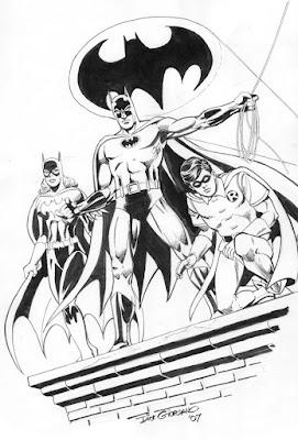 Batgirl, Batman, and Robin