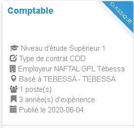 NAFTAL GPL Tébessa Comptable