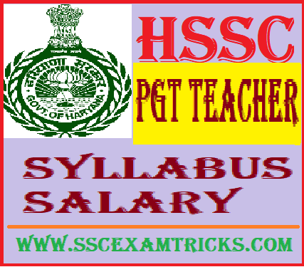 HSSC PGT Computer Science Teacher Salary