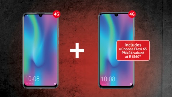 2 x Honor 10 Lite on Smart XS+ with uChoose Flexi 65 –  R399pm x 24