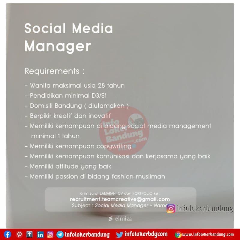 Lowongan Kerja Elmiza Bandung Juli 2021