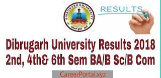 Dibrugarh University Results 2018