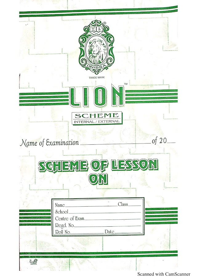 Scheme of Lesson Plan PDF For B.ed & D.el.ed