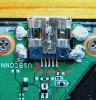Nexus7 (2013)のUSB端子の修理
