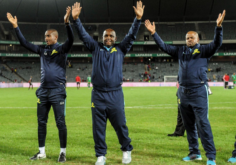Rhulani Mokwena, Pitso Mosimane and Manqoba Mnqgithi