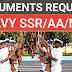 Documents required for Navy AA/SSR/MR Selection Process