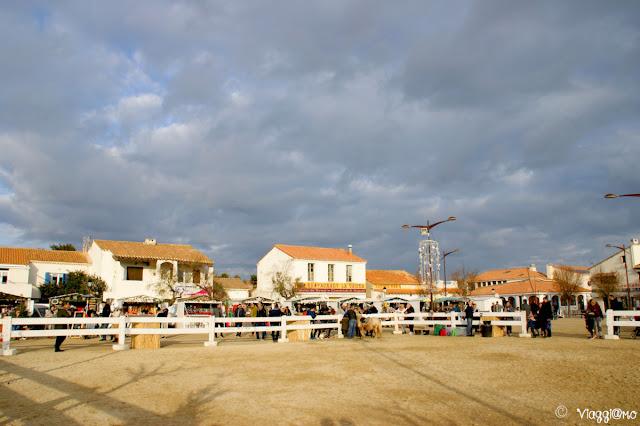 La piazza del Municipio di Saintes Maries de la Mer in Camargue