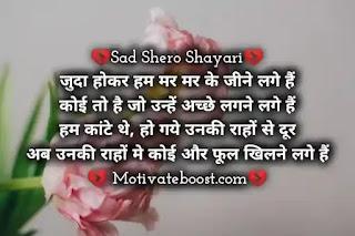 Hindi sad Shayari for life