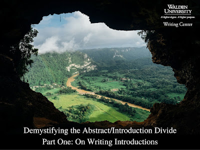 Demystifying the Abstract Introduction divide. Part 1 on writing introductions