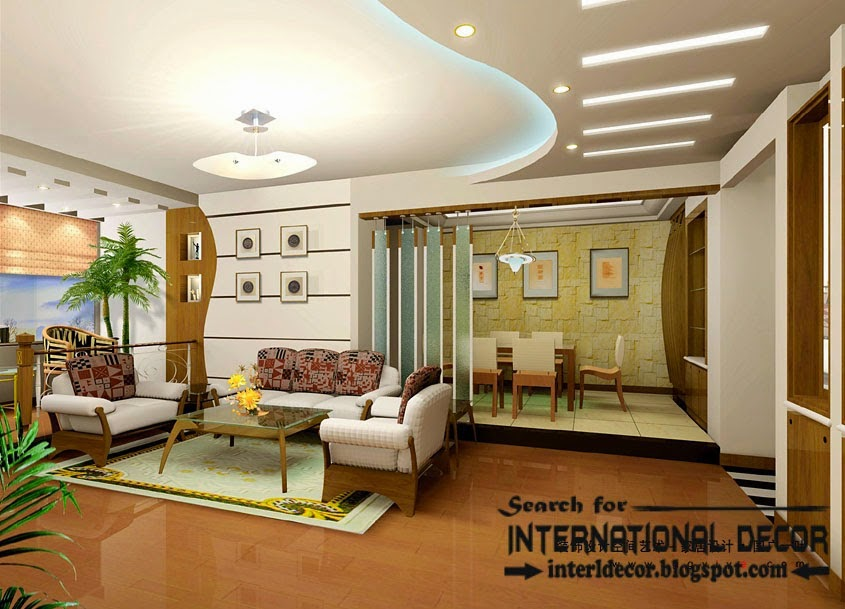 Stylish Fall Ceiling Designs Of Plasterboard In The Interior