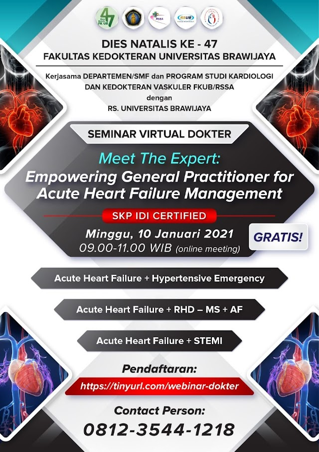 """Free SKP IDI """"Empowering General Practitioner for Acute Heart Failure Management"""""""
