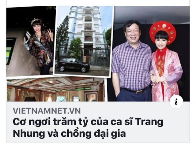 Cơ ngơi trăm tỷ của ca sĩ Trang Nhung và chồng đại gia, được xây từ tiền ăn trên 'xương máu' người bệnh ung thư?
