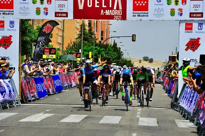 Xabier Isasa conserva el liderato y Arturo Cantera ganó la 3ª etapa de la Vuelta a Madrid