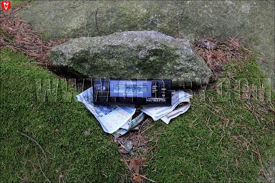 Замер радиационного фона на 'Чертовом камне'