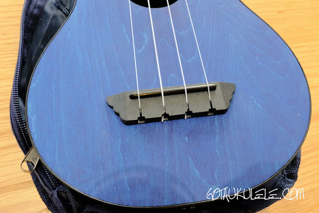 Flight TUSL-35 Concert Scale Soprano Ukulele bridge