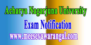 Acharya Nagarjuna University B.Ed / Pharma Exam Notification