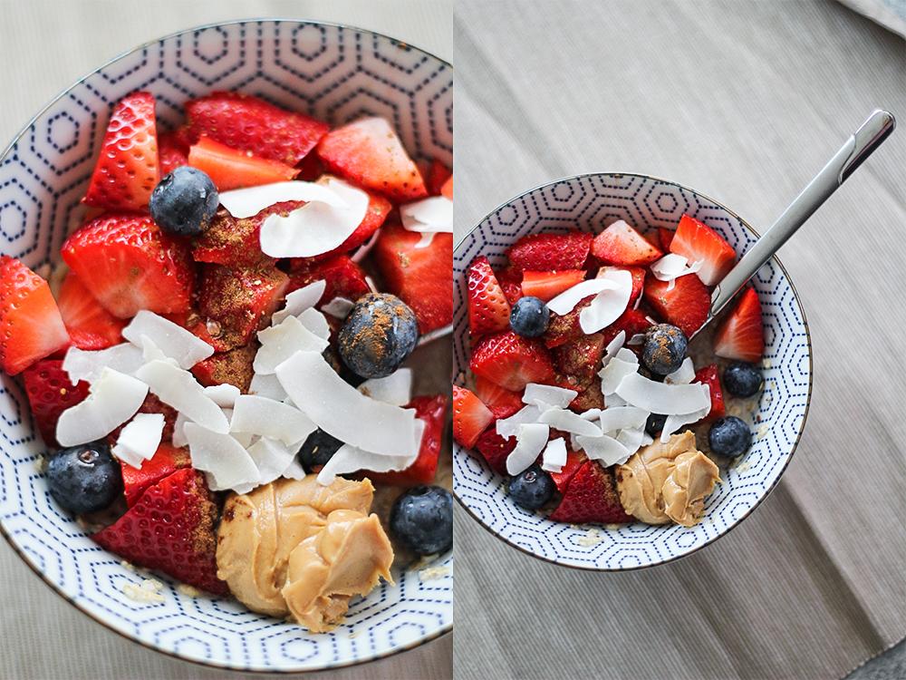 Porridge mit Beeren