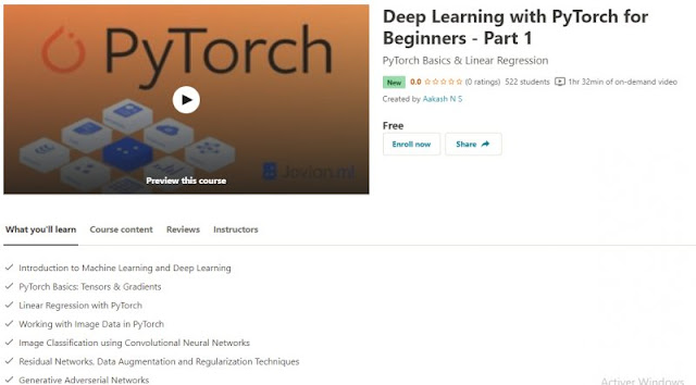 [100% Free] Deep Learning with PyTorch for Beginners - Part 1