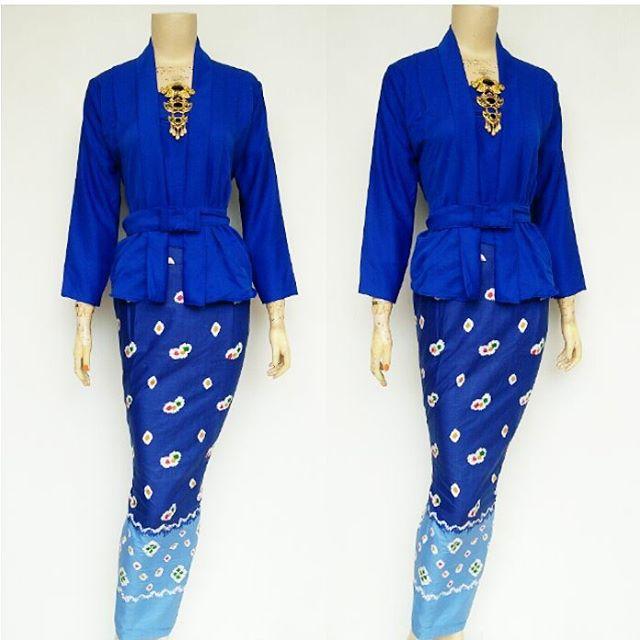 Jual Setelan Batik Solo Rnb Jumputan Biru Baju Batik Terbaru